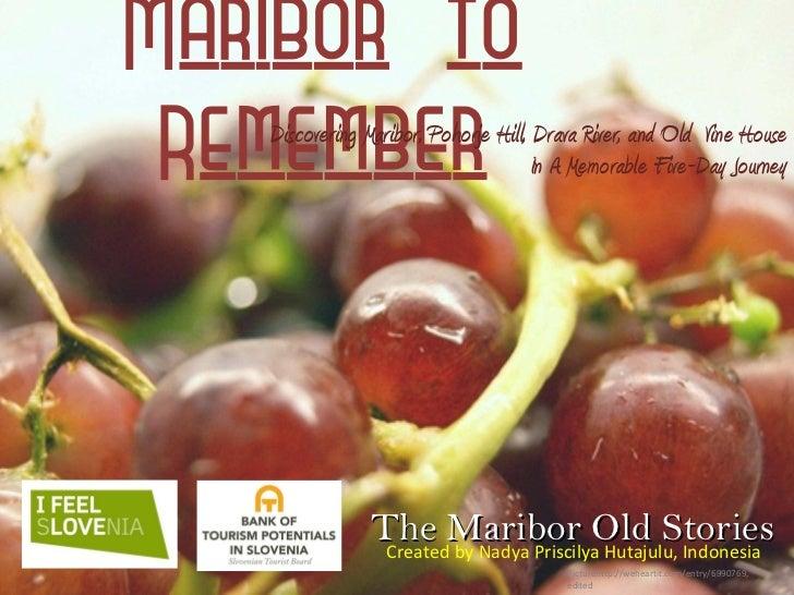 [Challenge:Future] Maribor to Remember