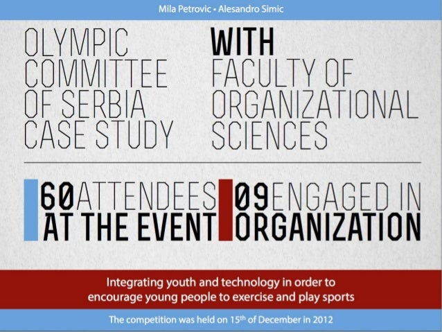 [Challenge:Future] Olympic Committee of Serbia Case Study Competition 2012