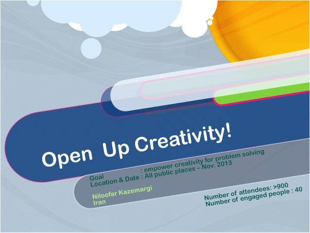 [Challenge:Future] Open up Creativity!