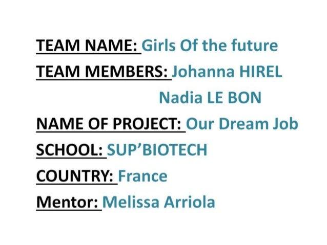 [Challenge:Future] Our Dream Job