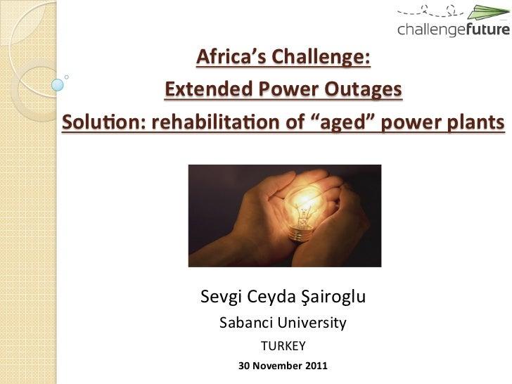 Africa's Challenge:                  ...