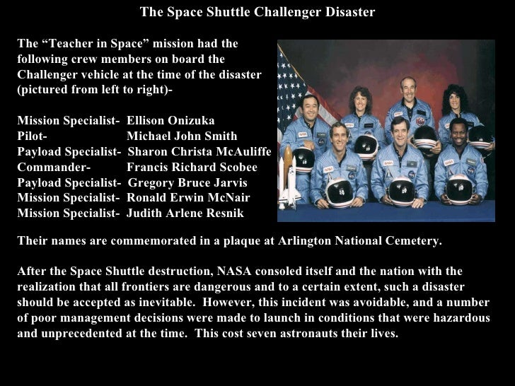 challenger and columbia shuttle disaster case study Post-challenger evaluation of space shuttle the launch of columbia in 1981--the first risk assessment and management in order to op.