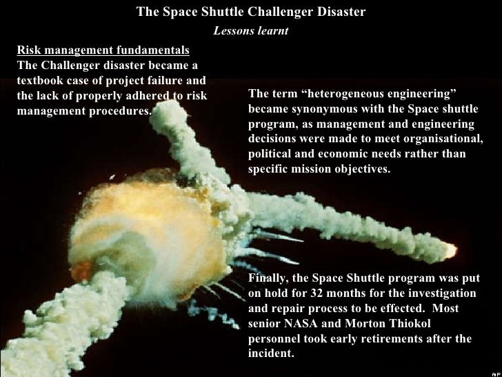 space shuttle ethics case study : this paper addresses an aspect of the challenger accident's history not addressed in the case study] abstract: severe icing on the space shuttle challenger's launch pad should have halted the.