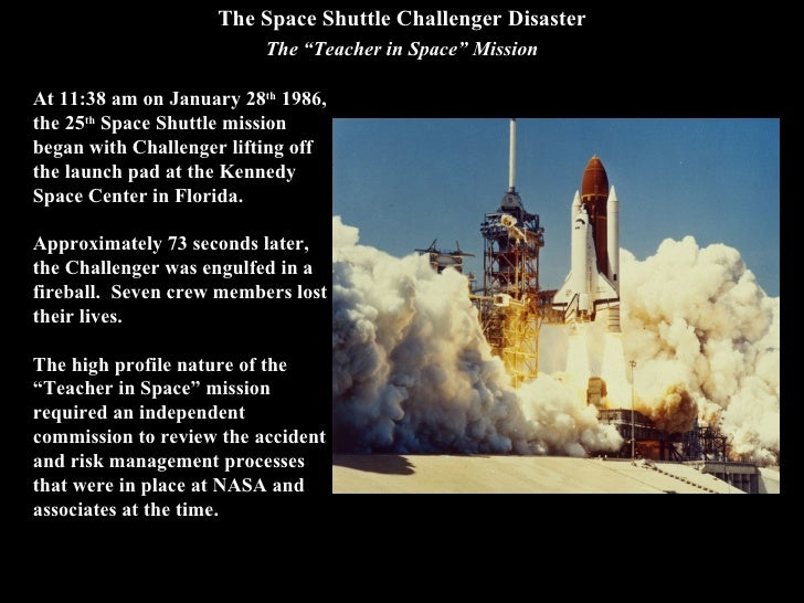 case study 1 the challenger space shuttle disaster The challenger disaster has been used as a case study in many discussions of engineering safety and real-life space shuttle challenger disaster.