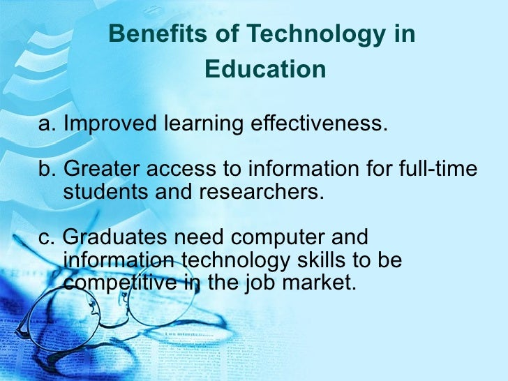 essay on information technology in education
