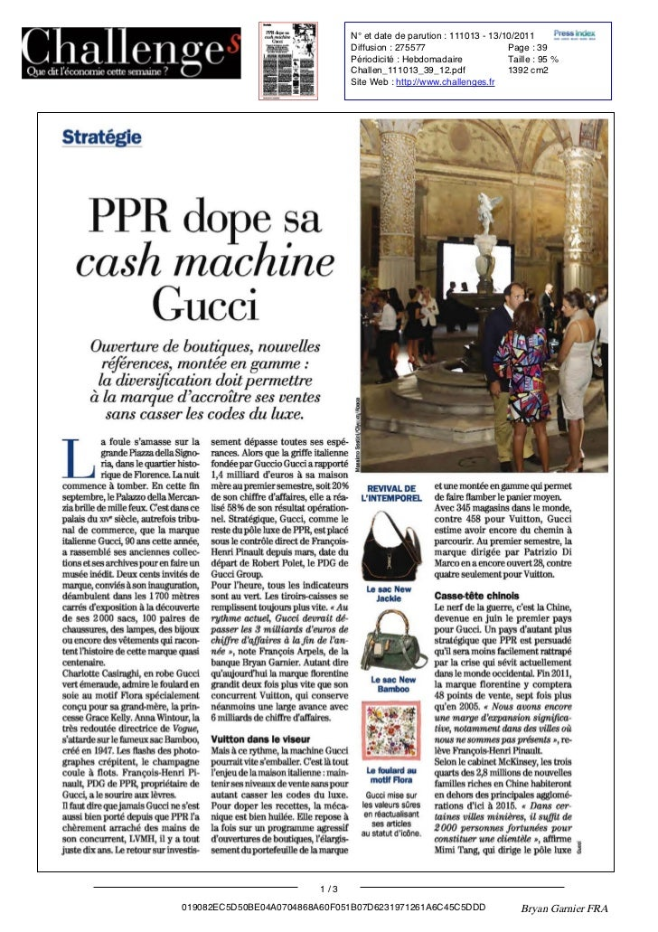 PPR dope sa cash machine Gucci - Challenges