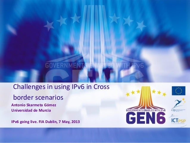 IPv6 cross border communication challenges