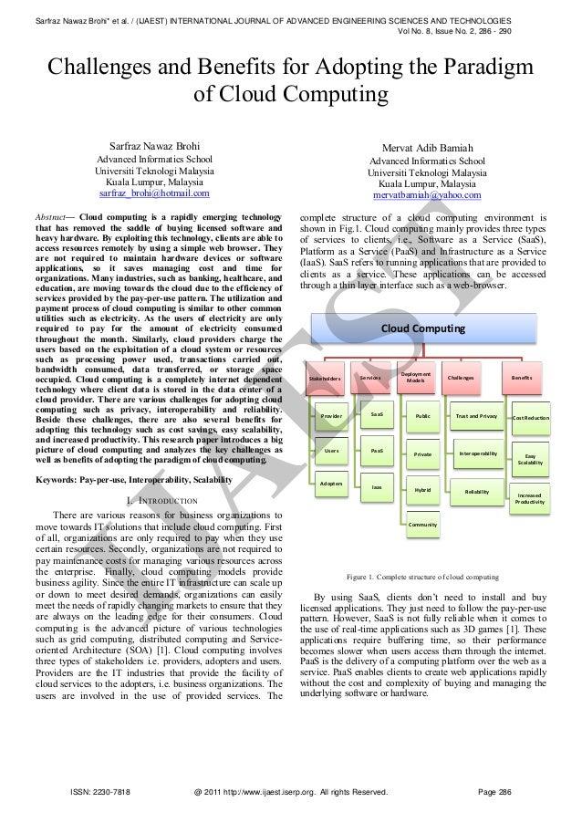 Sarfraz Nawaz Brohi* et al. / (IJAEST) INTERNATIONAL JOURNAL OF ADVANCED ENGINEERING SCIENCES AND TECHNOLOGIES Vol No. 8, ...