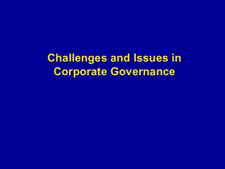 good governance challenge and issues 1 e-governance in africa: challenges, trends and issues by omwoyo bosire onyancha1 department of library and information science, university of zululand private.