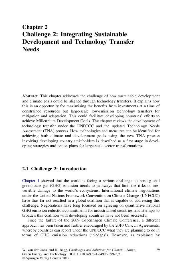 Chapter 2Challenge 2: Integrating SustainableDevelopment and Technology TransferNeedsAbstract This chapter addresses the c...