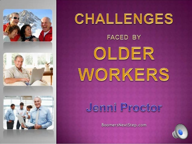We all face challenges in the workplace. Let's face it your age is what it is and there is nothing you can do about it. If...