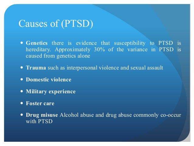What is the most common cause of PTSD?