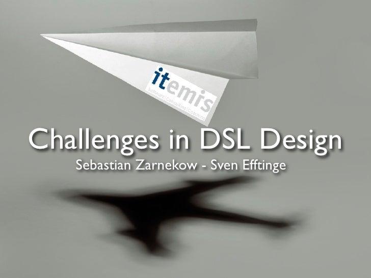 Challenges In Dsl Design