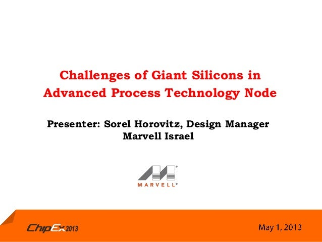 Challenges of Giant Silicons inAdvanced Process Technology NodePresenter: Sorel Horovitz, Design ManagerMarvell Israel