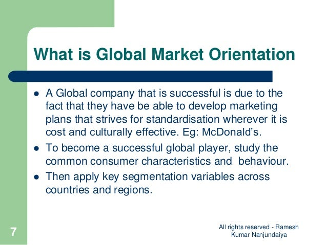What is global market?