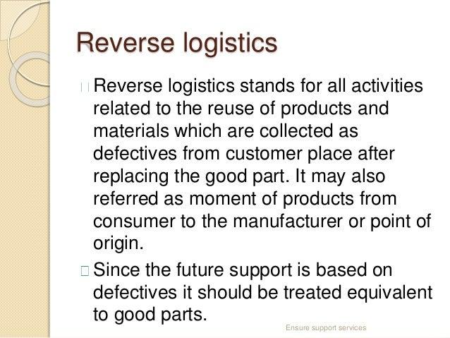 Reverse Logistics Products Reverse Logistics Reverse