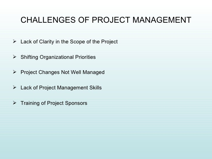 challenges of project planning Why projects are failing in africa  rigorous planning using tools like seavus project  it strikes me that none of these project management challenges.