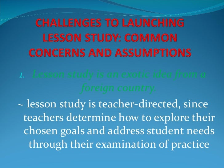 Challenges to launching lesson study