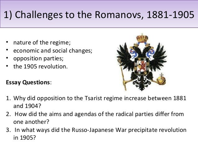 the tsarist regime between 1881 1904 essay