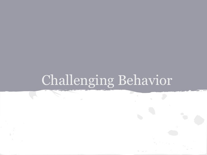 Autism and Challenging Behaviors in the Classroom