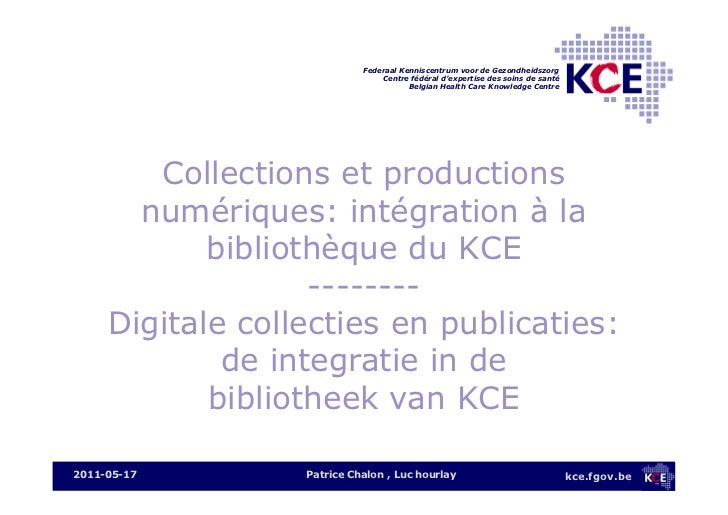 BIBforum 2011 - Managing e-collections and productions
