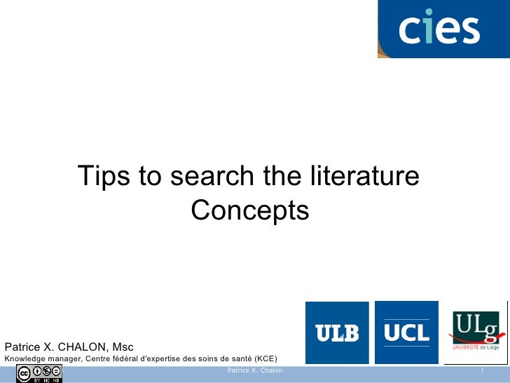 Searching the Biomedical Literature : concepts