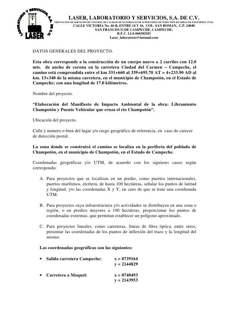 LASER, LABORATORIO Y SERVICIOS, S.A. DE C.V.            PRESTACION DE SERVICIOS DE CONTROL DE CALIDAD DE MATERIALES DE SUP...