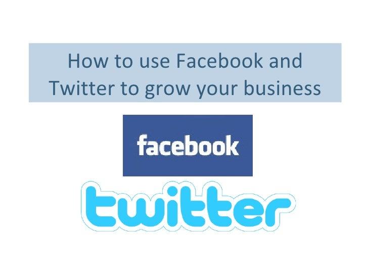 Chamber  Facebook  Twitter  Presentation