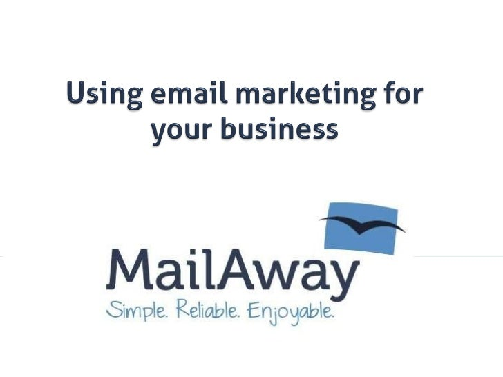 Effectively using email marketing