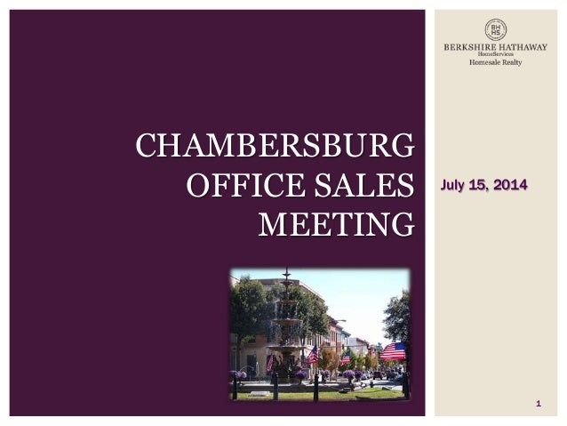Chambersburg Sales Meeting 07 15 14