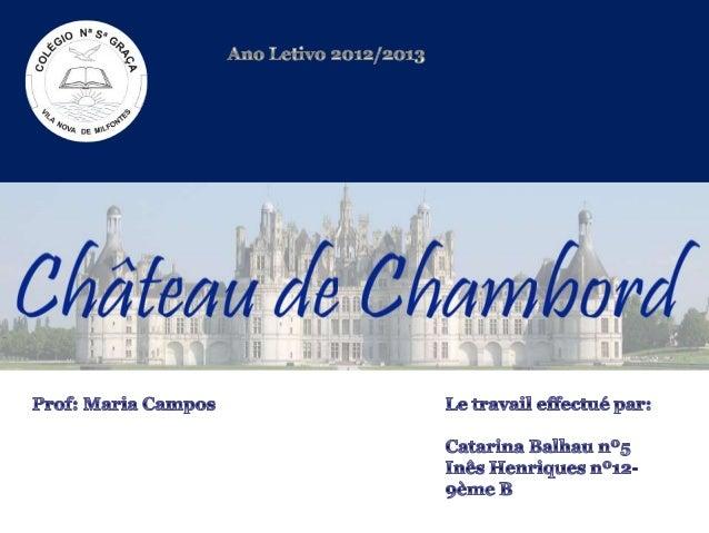 Le Château de Chambord se situe dans un parc forestier de 50 km², dans la région de la Loire.