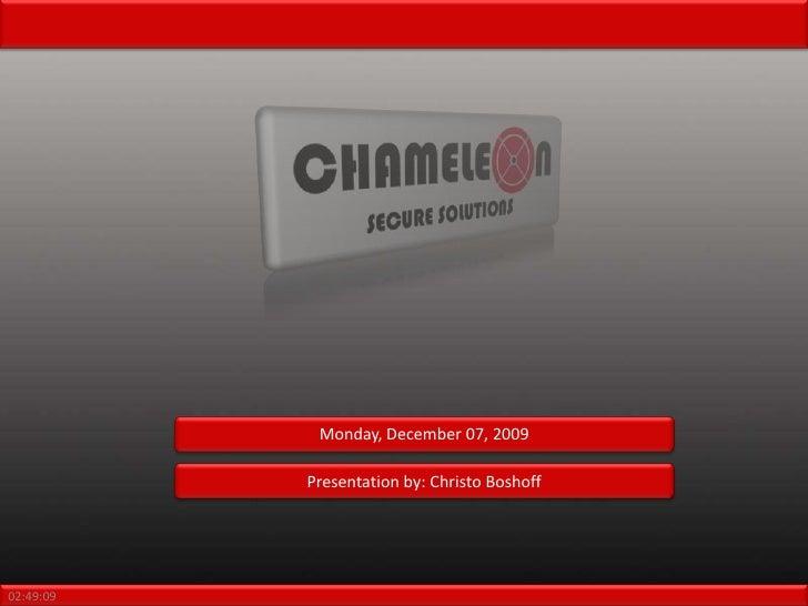 Monday, December 07, 2009<br />Presentation by: ChristoBoshoff<br />12:44:04<br />