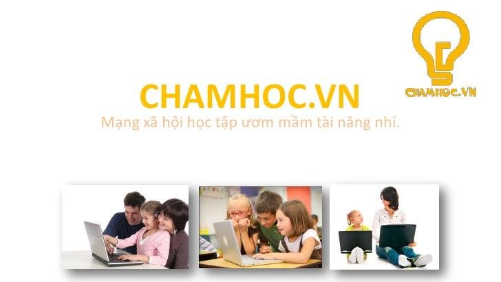 Giáo dục trực tuyến cho tiểu học (chamhoc.vn)