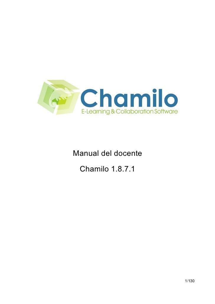 Chamilo 1.8.7.1 Manual del docente - ES