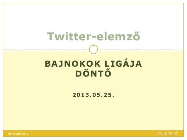 BAJNOKOK LIGÁJADÖNTŐ2013.05.25.Twitter-elemző2013. 05. 27.www.opinhu.hu