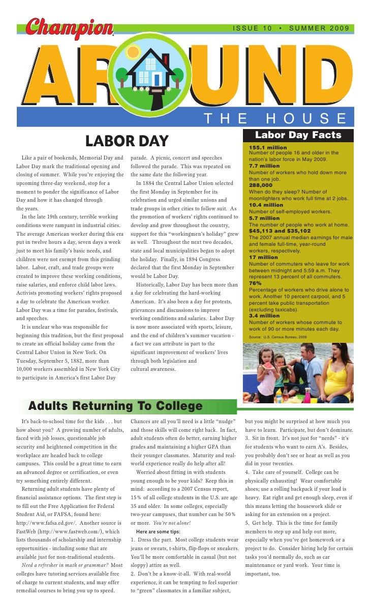 ISSUE 10               •     SUMMER 2009      AROUND                                                                      ...