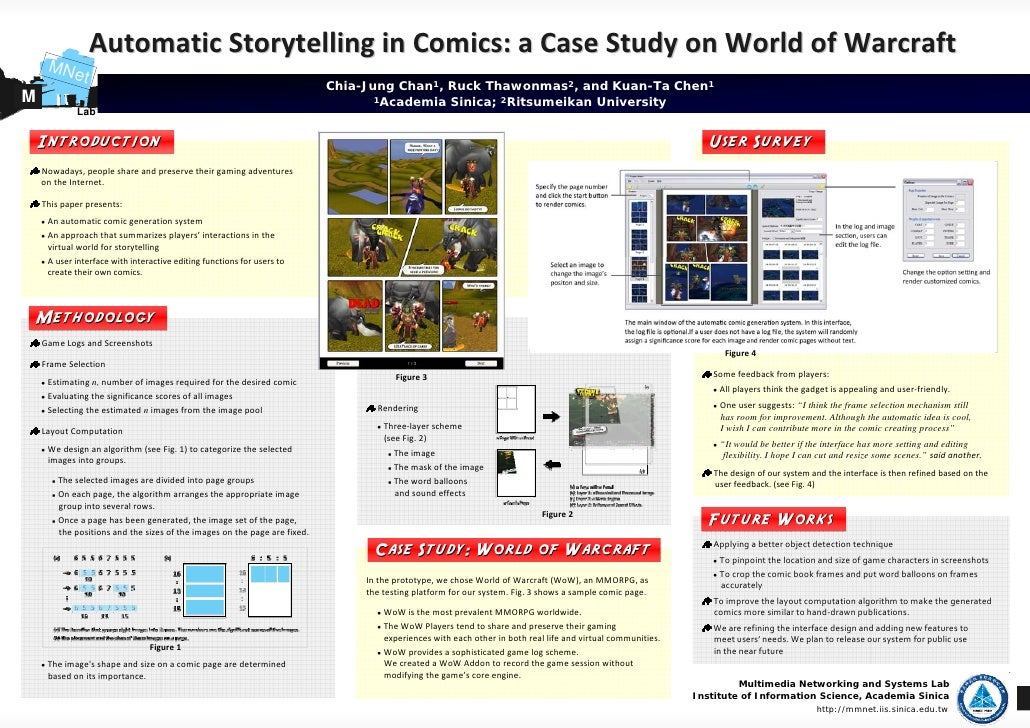 Automatic Storytelling in Comics: a Case Study on World of Warcraft      MNe         t                                    ...