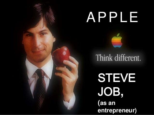 STEVE JOB, (as an entrepreneur) APPLE