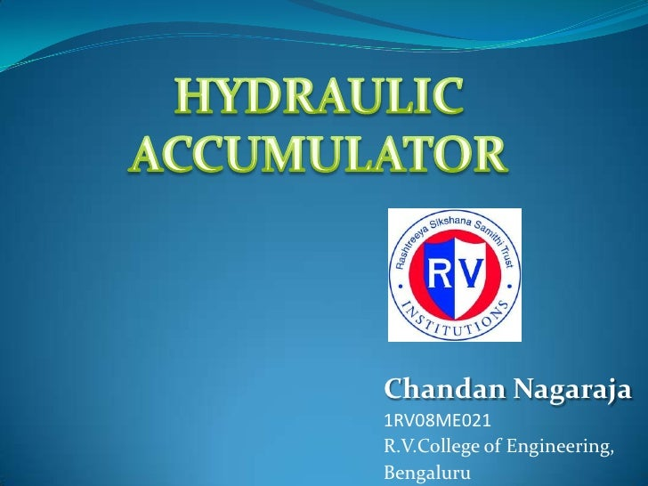 Chandan Nagaraja1RV08ME021R.V.College of Engineering,Bengaluru