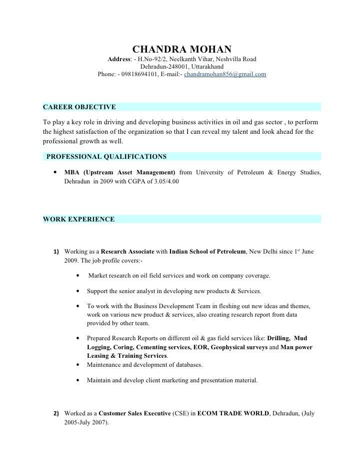 CHANDRA MOHAN                        Address: - H.No-92/2, Neelkanth Vihar, Neshvilla Road                                ...