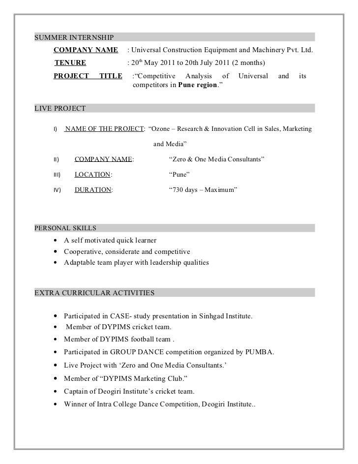 chandraprakash resume          summer internship company name   universal construction
