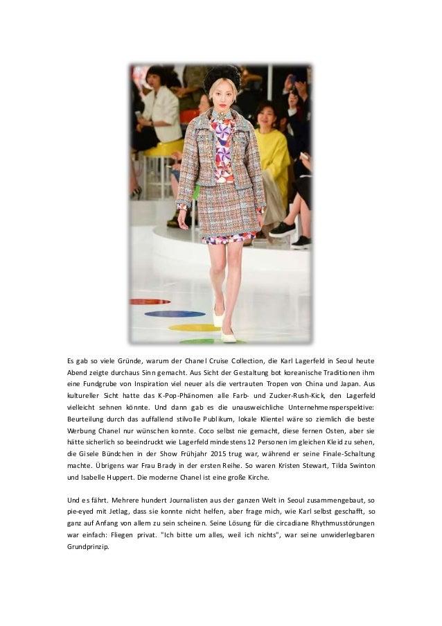 Es gab so viele Gründe, warum der Chanel Cruise Collection, die Karl Lagerfeld in Seoul heute Abend zeigte durchaus Sinn g...