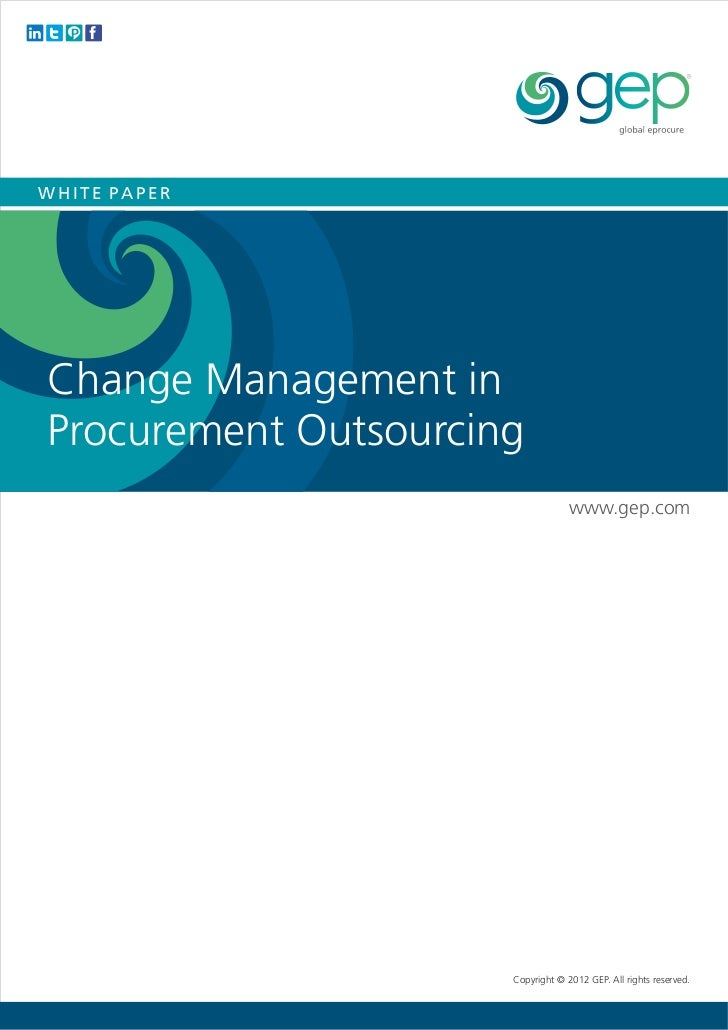 White Paper: Change management in procurement outsourcing