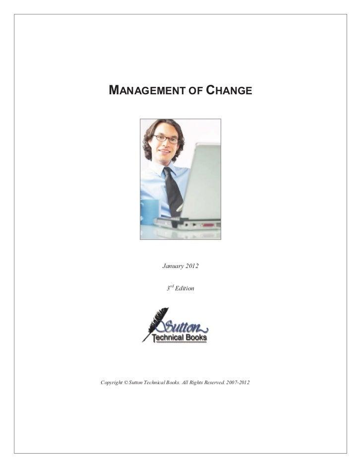 Change Management Process sample