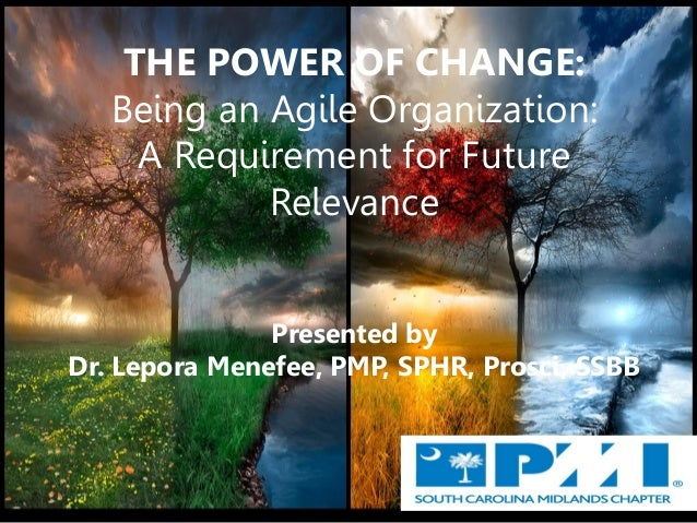 Change Management/ Agility in Organizations and Leaders- Project Management Institute (PMI) conference
