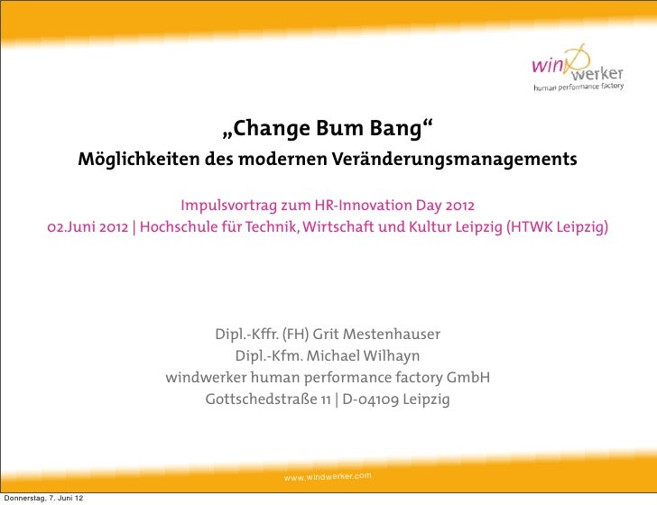 Change bum bang von Windwerker