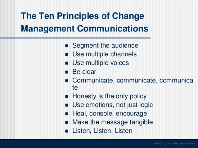 the significant principles of management communications Significant principles of management because of the magnitude of effective communication, management experts it is therefore important for.