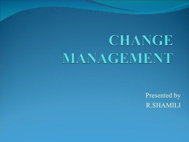 Presented byR.SHAMILI