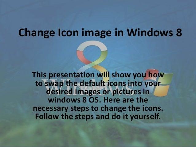 Windows 8: Set custom icon image