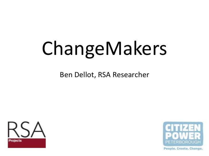 ChangeMakers' workshop presentation